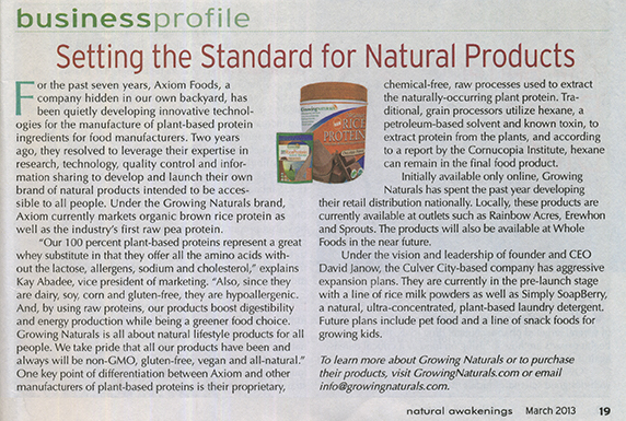 Natural Awakenings - Setting The Standard