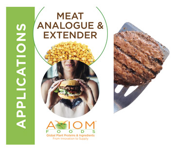 meat analogue & extender applications