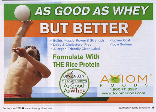 Nutrition Industry Executive Whey Ad Half Page