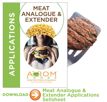 Meat Analogue and Extender Applications with Plant Proteins