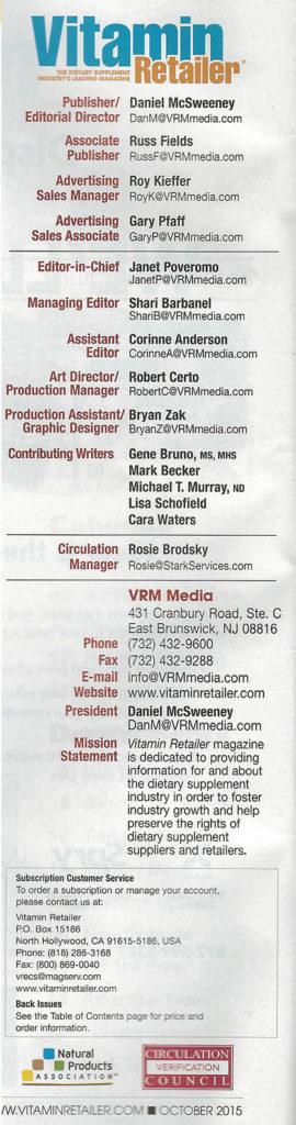 Vitamin Retailer Magazine - Back Talk David J - 2