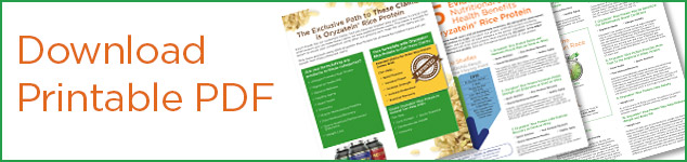 Download Oryzatein Rice Protein Patented Claims PDF